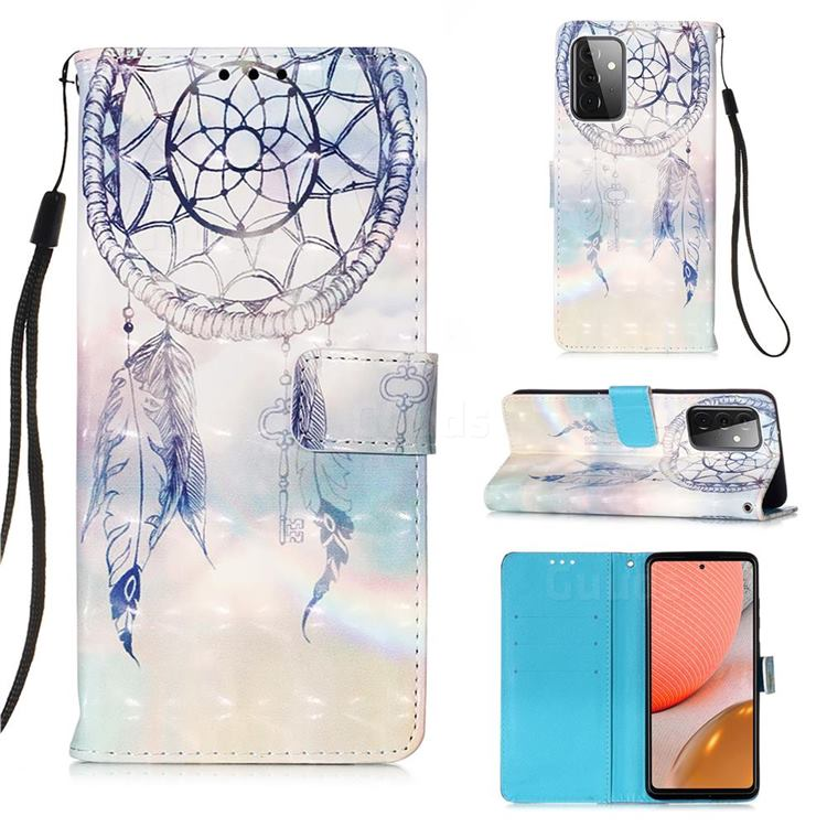 Fantasy Campanula 3D Painted Leather Wallet Case for Samsung Galaxy A72 (4G, 5G)