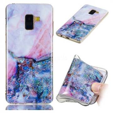 Purple Amber Soft TPU Marble Pattern Phone Case for Samsung Galaxy A8+ (2018)
