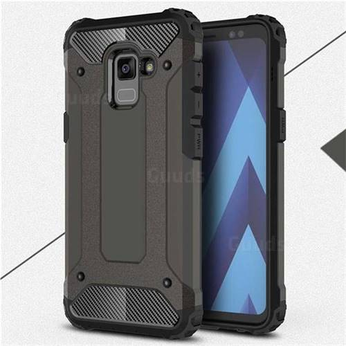 King Kong Armor Premium Shockproof Dual Layer Rugged Hard Cover for Samsung Galaxy A8+ (2018) - Bronze