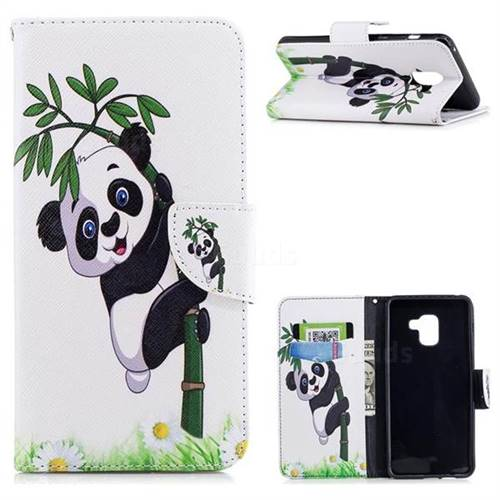 Bamboo Panda Leather Wallet Case for Samsung Galaxy A8+ (2018)