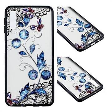 online retailer 76494 8a997 Butterfly Lace Diamond Flower Soft TPU Back Cover for Samsung Galaxy A7  (2018)