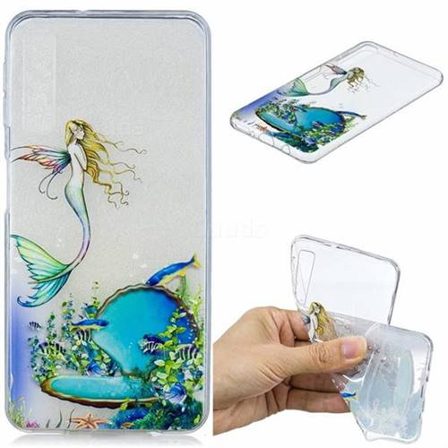 Mermaid Clear Varnish Soft Phone Back Cover for Samsung Galaxy A7 (2018)