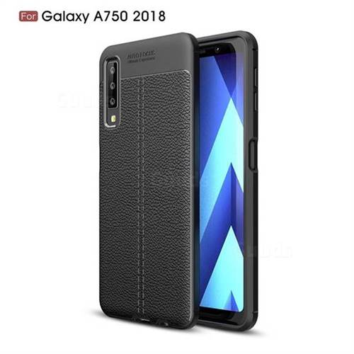 newest 002b8 819c1 Luxury Auto Focus Litchi Texture Silicone TPU Back Cover for Samsung Galaxy  A7 (2018) - Black - Galaxy A7 2018 Cases - Guuds