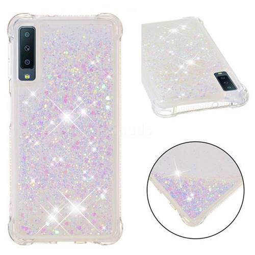 Dynamic Liquid Glitter Sand Quicksand Star TPU Case for Samsung Galaxy A7 (2018) - Pink