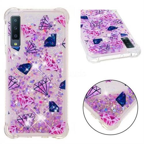 Diamond Dynamic Liquid Glitter Sand Quicksand Star TPU Case for Samsung Galaxy A7 (2018)