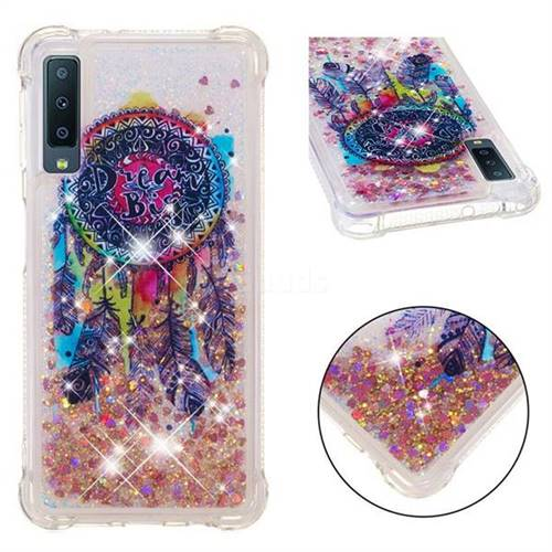 Seal Wind Chimes Dynamic Liquid Glitter Sand Quicksand Star TPU Case for Samsung Galaxy A7 (2018)