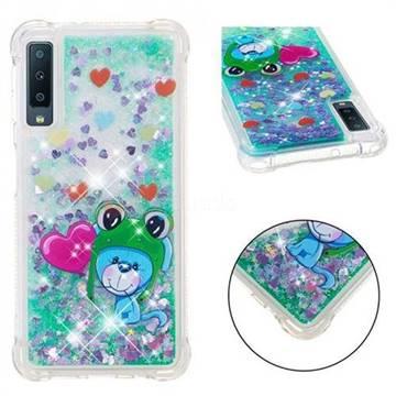 Heart Frog Lion Dynamic Liquid Glitter Sand Quicksand Star TPU Case for Samsung Galaxy A7 (2018)