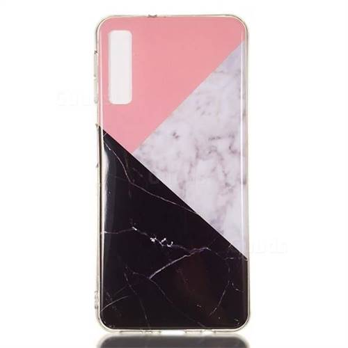 online retailer eaaa7 acf68 Tricolor Soft TPU Marble Pattern Case for Samsung Galaxy A7 (2018)