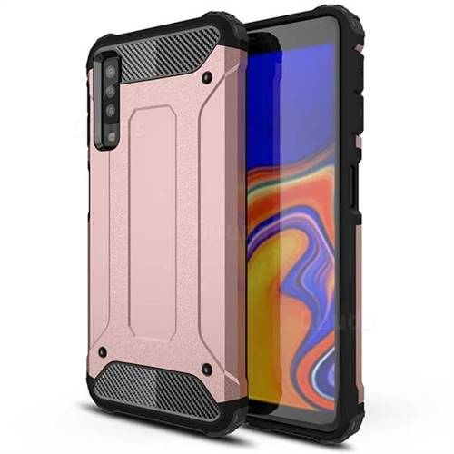 King Kong Armor Premium Shockproof Dual Layer Rugged Hard Cover for Samsung Galaxy A7 (2018) A750 - Rose Gold