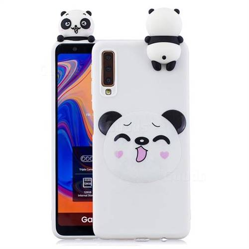 Smiley Panda Soft 3D Climbing Doll Soft Case for Samsung Galaxy A7 (2018) A750
