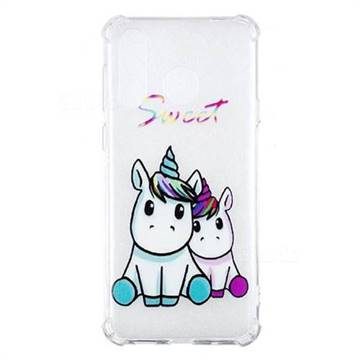 Sweet Unicorn Anti-fall Clear Varnish Soft TPU Back Cover for Samsung Galaxy A8s