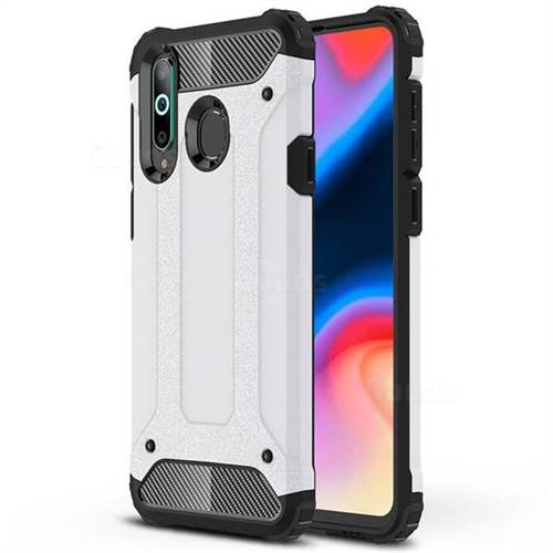 King Kong Armor Premium Shockproof Dual Layer Rugged Hard Cover for Samsung Galaxy A8s - White
