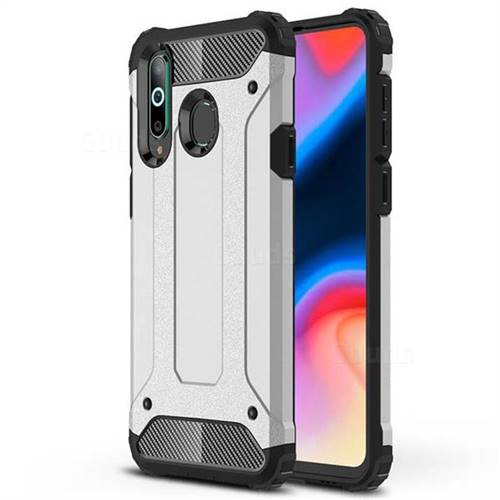 King Kong Armor Premium Shockproof Dual Layer Rugged Hard Cover for Samsung Galaxy A8s - Technology Silver