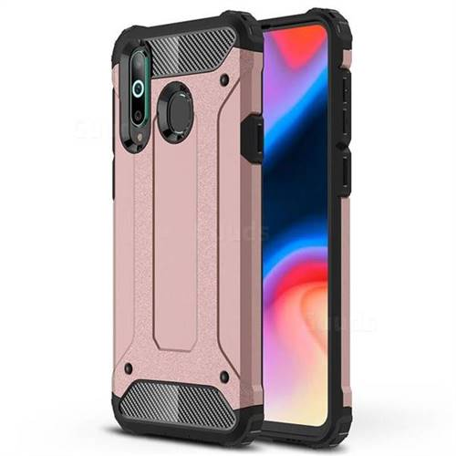 King Kong Armor Premium Shockproof Dual Layer Rugged Hard Cover for Samsung Galaxy A8s - Rose Gold
