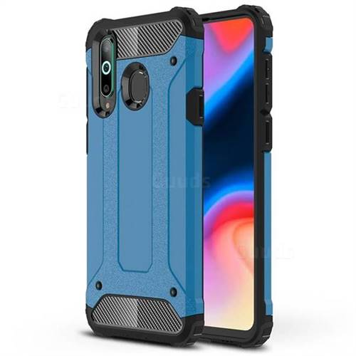 King Kong Armor Premium Shockproof Dual Layer Rugged Hard Cover for Samsung Galaxy A8s - Sky Blue