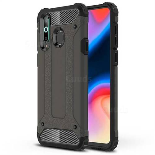 King Kong Armor Premium Shockproof Dual Layer Rugged Hard Cover for Samsung Galaxy A8s - Bronze
