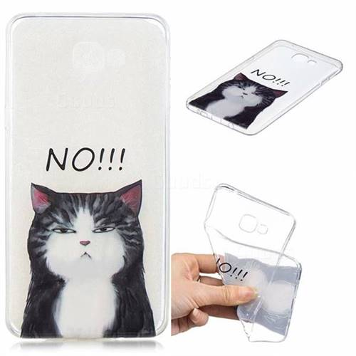 Cat Say No Clear Varnish Soft Phone Back Cover for Samsung Galaxy A9 (2018) / A9 Star Pro / A9s