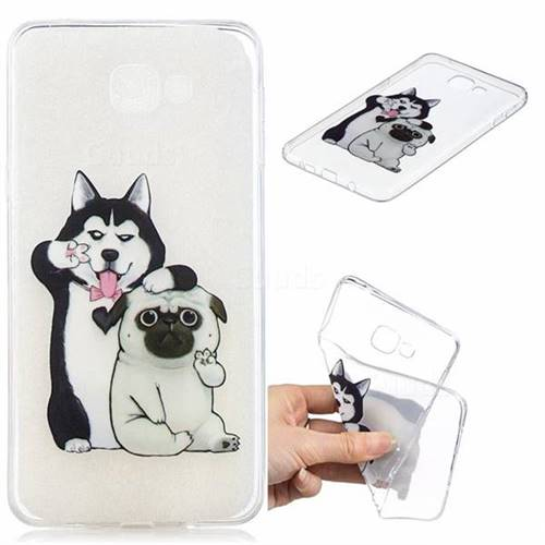 Selfie Dog Clear Varnish Soft Phone Back Cover for Samsung Galaxy A9 (2018) / A9 Star Pro / A9s