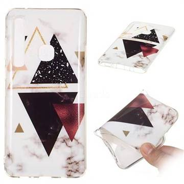 Four Triangular Soft TPU Marble Pattern Phone Case for Samsung Galaxy A9 (2018) / A9 Star Pro / A9s