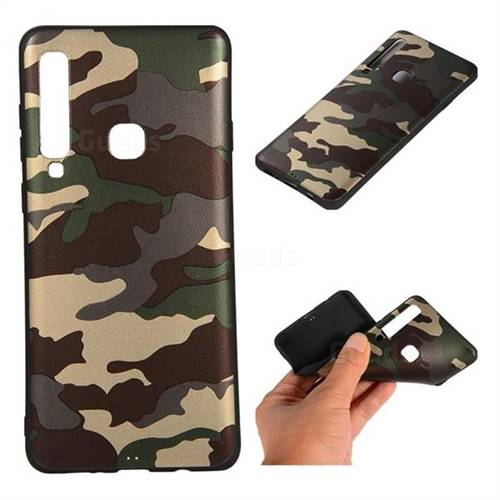 Camouflage Soft TPU Back Cover for Samsung Galaxy A9 (2018) / A9 Star Pro / A9s - Gold Green