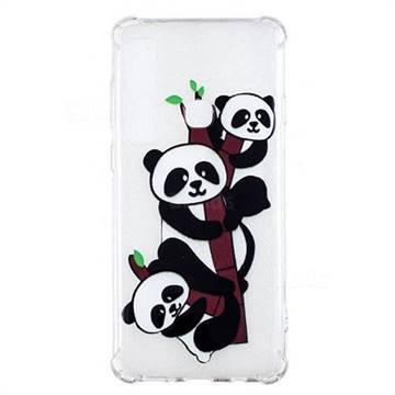 Three Pandas Anti-fall Clear Varnish Soft TPU Back Cover for Samsung Galaxy A9 (2018) / A9 Star Pro / A9s