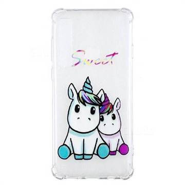 Sweet Unicorn Anti-fall Clear Varnish Soft TPU Back Cover for Samsung Galaxy A9 (2018) / A9 Star Pro / A9s