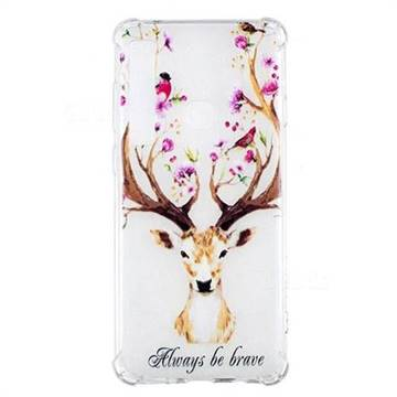 Always be Brave Anti-fall Clear Varnish Soft TPU Back Cover for Samsung Galaxy A9 (2018) / A9 Star Pro / A9s