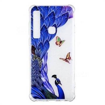Peacock Butterfly Anti-fall Clear Varnish Soft TPU Back Cover for Samsung Galaxy A9 (2018) / A9 Star Pro / A9s