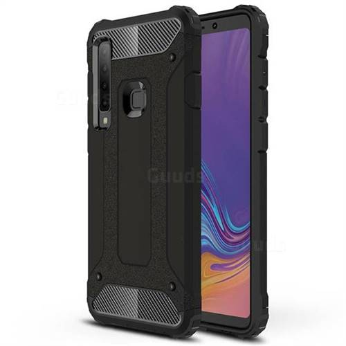 King Kong Armor Premium Shockproof Dual Layer Rugged Hard Cover for Samsung Galaxy A9 (2018) / A9 Star Pro / A9s - Black Gold