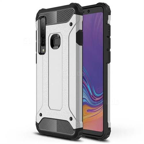 King Kong Armor Premium Shockproof Dual Layer Rugged Hard Cover for Samsung Galaxy A9 (2018) / A9 Star Pro / A9s - Technology Silver