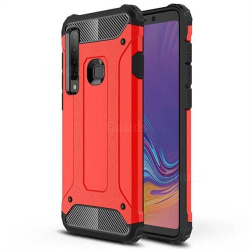 King Kong Armor Premium Shockproof Dual Layer Rugged Hard Cover for Samsung Galaxy A9 (2018) / A9 Star Pro / A9s - Big Red