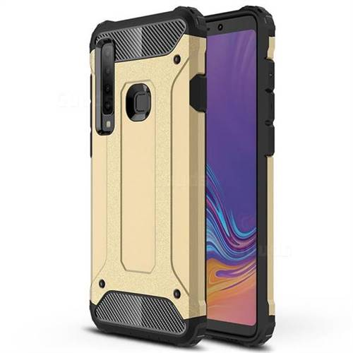 King Kong Armor Premium Shockproof Dual Layer Rugged Hard Cover for Samsung Galaxy A9 (2018) / A9 Star Pro / A9s - Champagne Gold