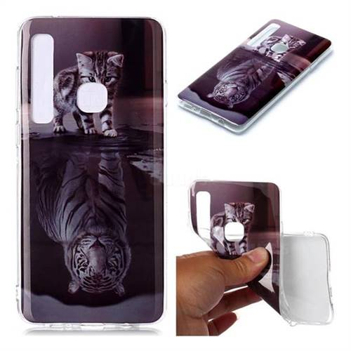 Cat and Tiger Soft TPU Cell Phone Back Cover for Samsung Galaxy A9 (2018) / A9 Star Pro / A9s