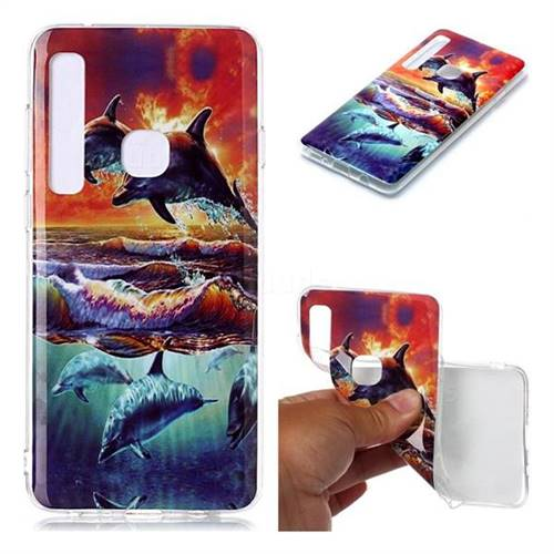Flying Dolphin Soft TPU Cell Phone Back Cover for Samsung Galaxy A9 (2018) / A9 Star Pro / A9s