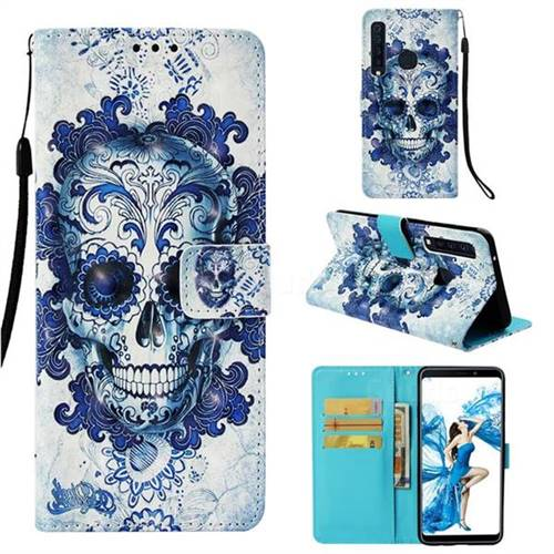Cloud Kito 3D Painted Leather Wallet Case for Samsung Galaxy A9 (2018) / A9 Star Pro / A9s