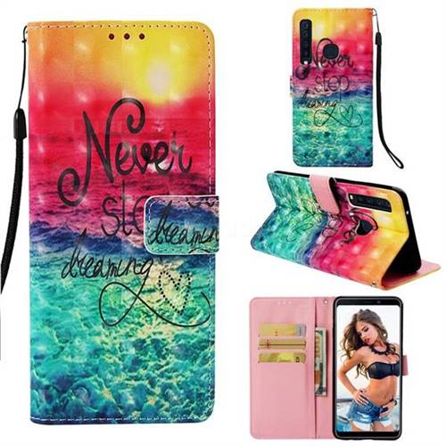 Colorful Dream Catcher 3D Painted Leather Wallet Case for Samsung Galaxy A9 (2018) / A9 Star Pro / A9s