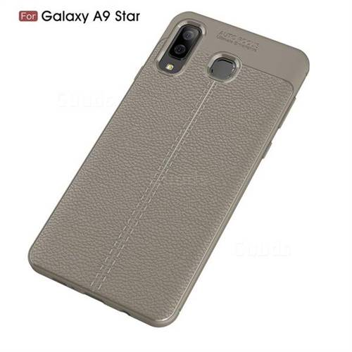 quality design 16cac 9f2c8 Luxury Auto Focus Litchi Texture Silicone TPU Back Cover for Samsung Galaxy  A8 Star (A9 Star) - Gray