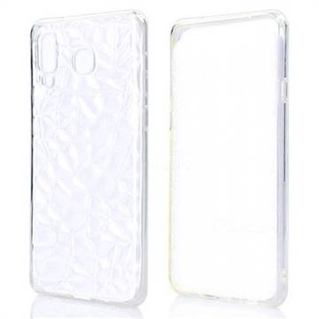 Diamond Pattern Shining Soft TPU Phone Back Cover for Samsung Galaxy A8 Star (A9 Star) - Transparent