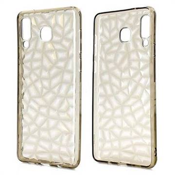 Diamond Pattern Shining Soft TPU Phone Back Cover for Samsung Galaxy A8 Star (A9 Star) - Gray