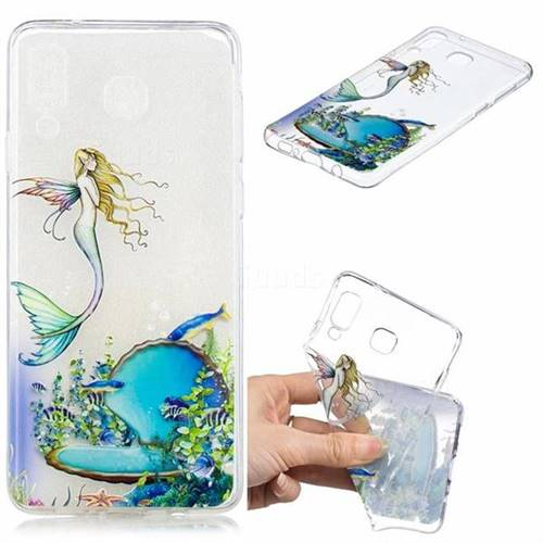 Mermaid Clear Varnish Soft Phone Back Cover for Samsung Galaxy A8 Star (A9 Star)