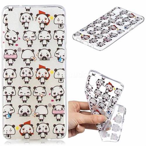Mini Panda Clear Varnish Soft Phone Back Cover for Samsung Galaxy A8 Star (A9 Star)