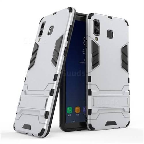 Armor Premium Tactical Grip Kickstand Shockproof Dual Layer Rugged Hard Cover for Samsung Galaxy A8 Star