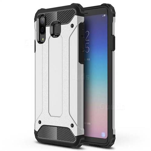 King Kong Armor Premium Shockproof Dual Layer Rugged Hard Cover for Samsung Galaxy A8 Star (A9 Star) - Technology Silver