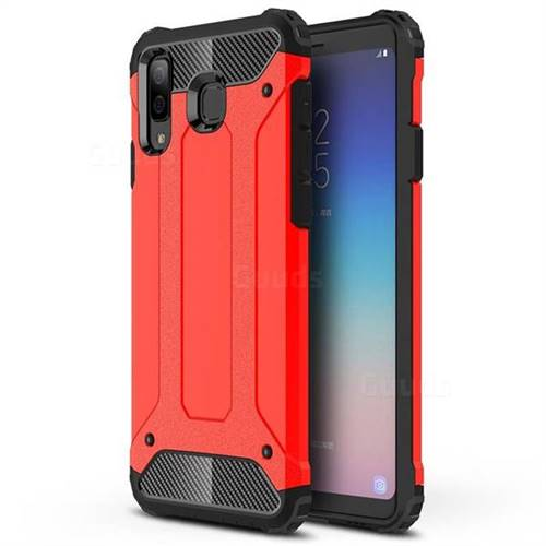 King Kong Armor Premium Shockproof Dual Layer Rugged Hard Cover for Samsung Galaxy A8 Star (A9 Star) - Big Red