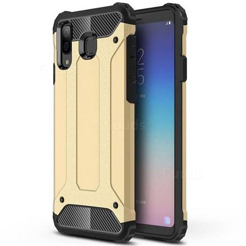 King Kong Armor Premium Shockproof Dual Layer Rugged Hard Cover for Samsung Galaxy A8 Star (A9 Star) - Champagne Gold