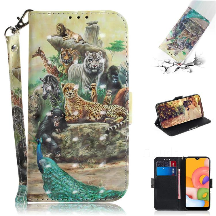 Beast Zoo 3D Painted Leather Wallet Phone Case for Samsung Galaxy A01