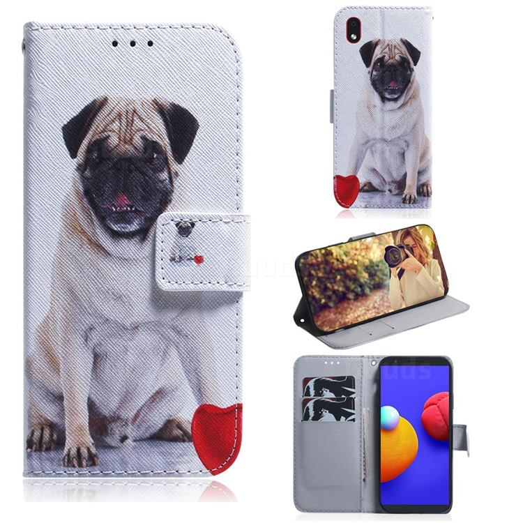 Pug Dog PU Leather Wallet Case for Samsung Galaxy A01 Core