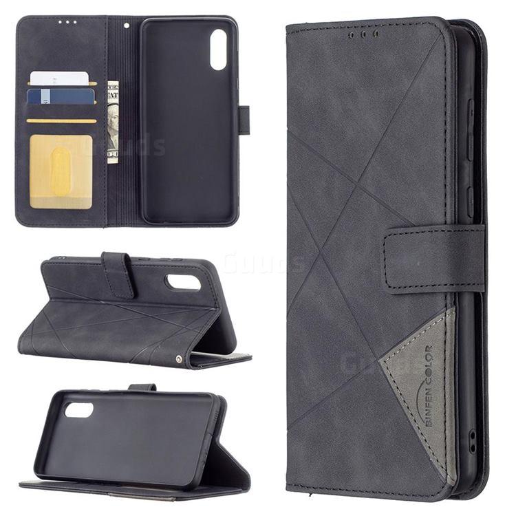 Binfen Color BF05 Prismatic Slim Wallet Flip Cover for Samsung Galaxy A02 - Black