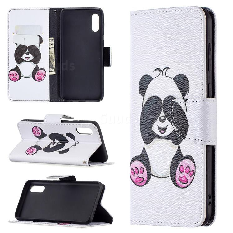 Lovely Panda Leather Wallet Case for Samsung Galaxy A02