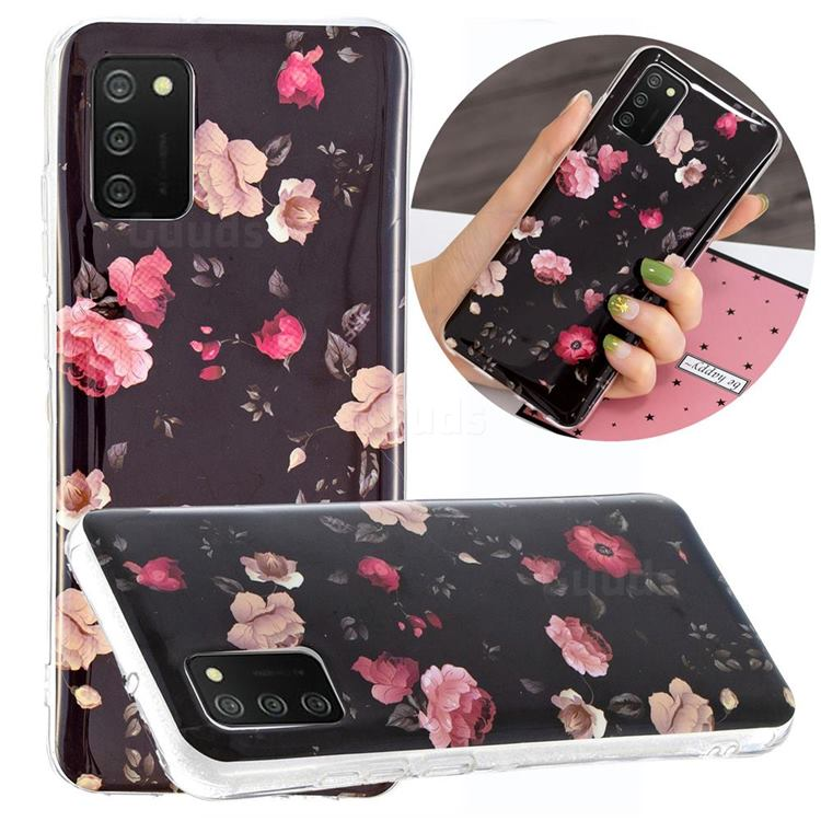Rose Flower Noctilucent Soft TPU Back Cover for Samsung Galaxy A02s